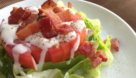What Happens When A Wedge Salad And A BLT Have A Baby? The Stacked BLT Salad.