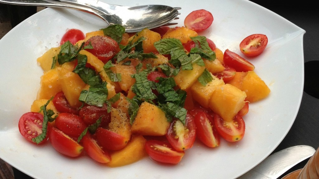 Tomato Peach Salad Recipe
