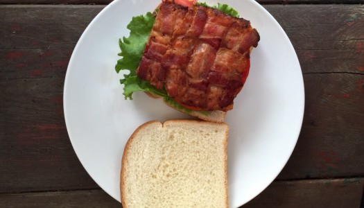 The Only Way To Make A BLT is With A Bacon Waffleweave Square – Make it!